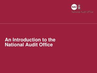 An Introduction to the National Audit Office