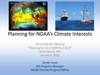 Planning for NOAA's Climate Interests