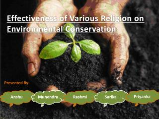 Effectiveness of Various Religion on Environmental Conservation