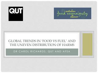 Global  Trends in  �Food  vs FueL � and the Uneven Distribution of harms