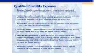Qualified Disability Expenses