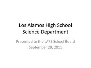 Los Alamos High School Science Department