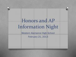 Honors and AP Information Night