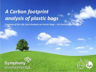 A Carbon footprint analysis of plastic bags