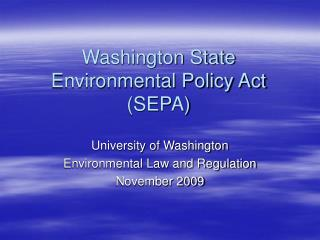 washington state environmental policy act sepa