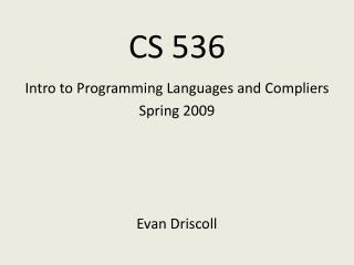 CS 536
