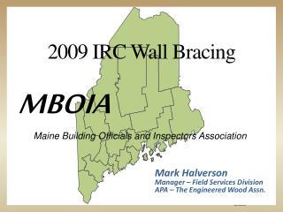 2009 IRC Wall Bracing