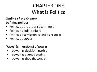 CHAPTER ONE What is Politics