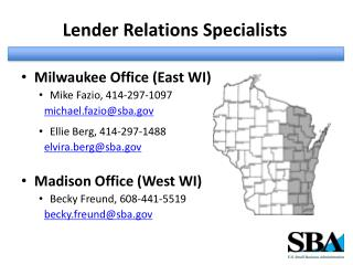 Lender Relations Specialists