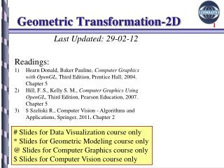 Geometric  Transformation-2D