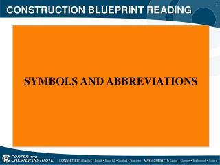 CONSTRUCTION BLUEPRINT READING