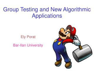 Group Testing and New Algorithmic Applications