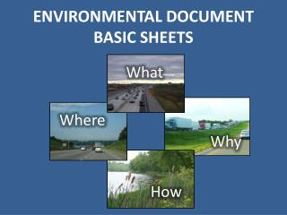 ENVIRONMENTAL DOCUMENT Basic sheets