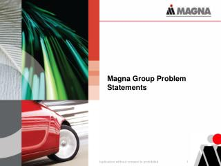 Magna Group Problem Statements