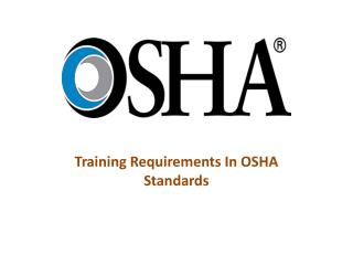 Training Requirements In OSHA Standards