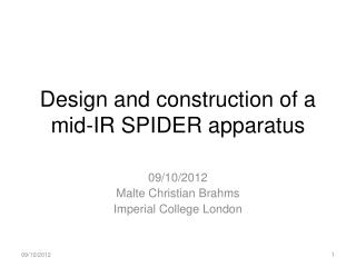Design and construction of a  mid-IR SPIDER apparatus