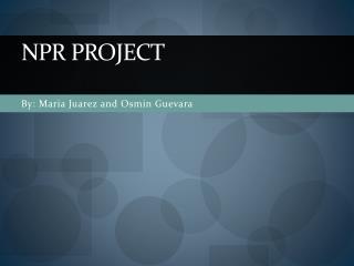 NPR Project