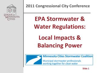 EPA Stormwater & Water Regulations: Local Impacts & Balancing Power