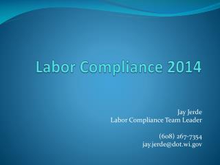 Labor Compliance 2014