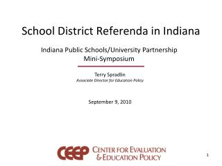 School District Referenda in Indiana