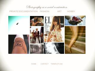 Private documentation    Fashion           Art            Hobby