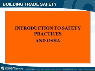 BUILDING TRADE SAFETY