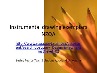 Instrumental drawing exemplars NZQA