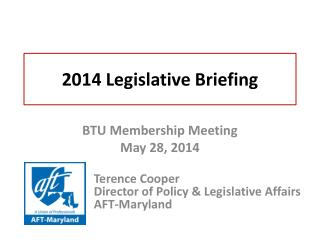 2014 Legislative  Briefing