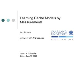 Learning Cache Models by Measurements