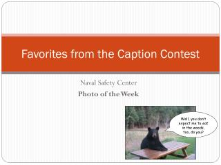 Favorites from  the Caption Contest