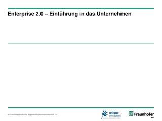 Enterprise 2.0 – Einführung in das Unternehmen