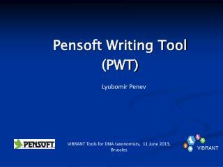 Pensoft  Writing Tool  (PWT)