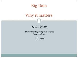 Big Data Why it matters