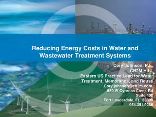 Reducing Energy Costs in Water and Wastewater Treatment Systems