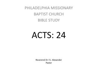 ACTS: 24