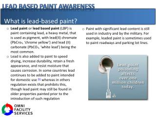 What is lead-based paint?