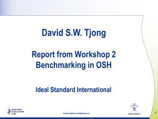 David S.W.  Tjong Report from Workshop  2 Benchmarking in OSH  Ideal Standard International