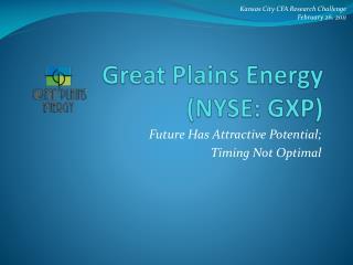 Great Plains Energy (NYSE: GXP)