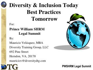 Diversity & Inclusion Today Best Practices  Tomorrow