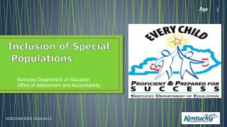 Inclusion of Special Populations