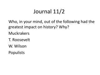Journal 11/2