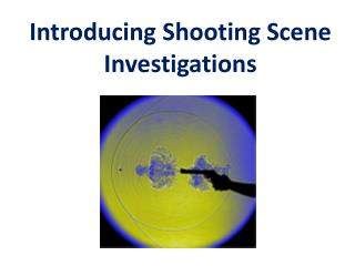 Introducing  Shooting Scene Investigations