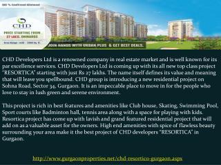 CHD Resortico in Gurgaon