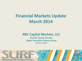 Financial Markets  Update  March 2014