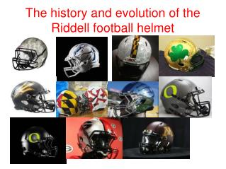 The history and evolution of the Riddell football helmet