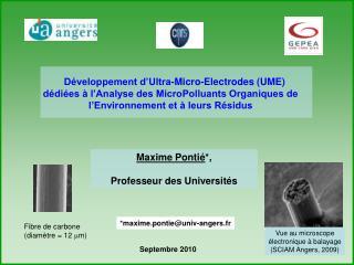 d veloppement d ultra-micro-electrodes ume  d di es   l analyse des micropolluants organiques de l environnement et   le