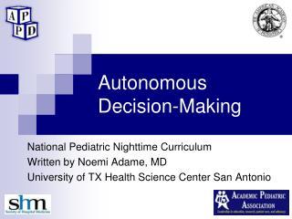 Autonomous Decision-Making