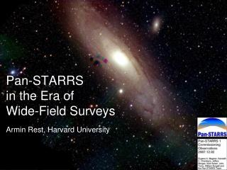 Pan-STARRS  in the Era of  Wide-Field Surveys