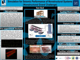 Simulation for Seismic Performance of Nonstructural Systems (Nonstructural Grand Challenge)