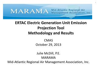 ERTAC Electric Generation Unit Emission  Projection  T ool  Methodology  and Results